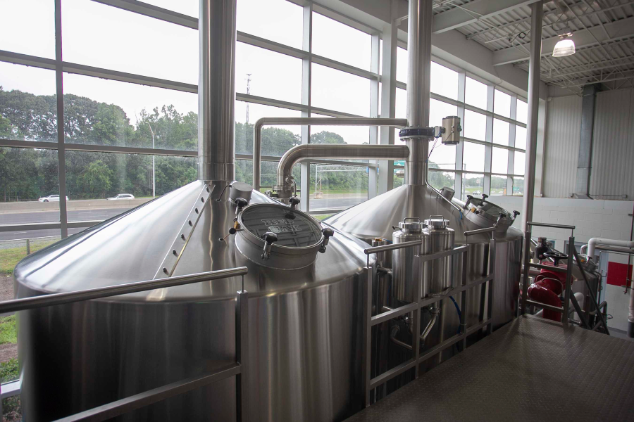 Lauter Tun (left) and Wort  kettle (Right)