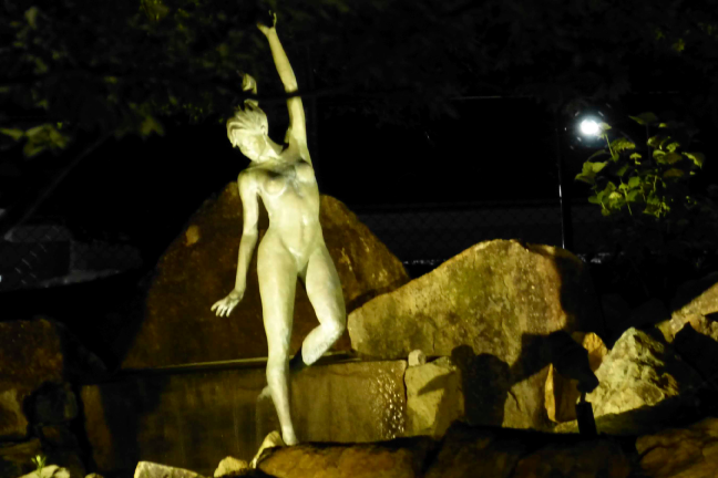 Nightime view of BierGarten  Nymph