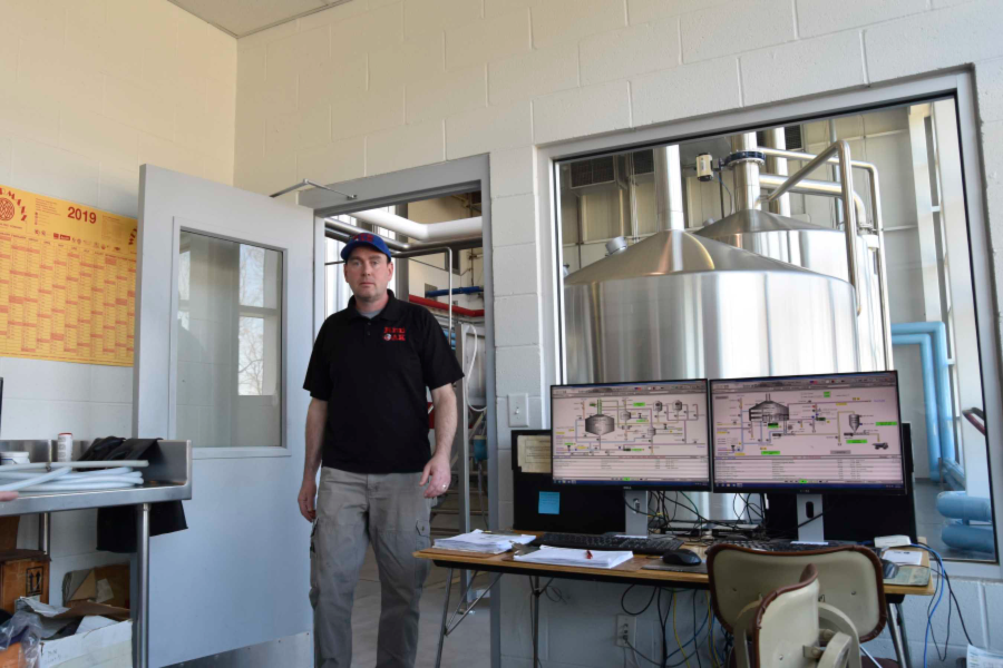 Brewmaster in Control  Room